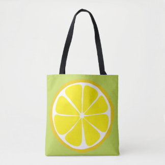 Summer Citrus Lemon on Lime Tote