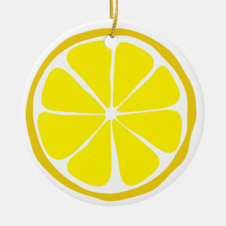 Summer Citrus Lemon Ornament