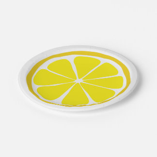 Summer Citrus Lemon Paper Plates