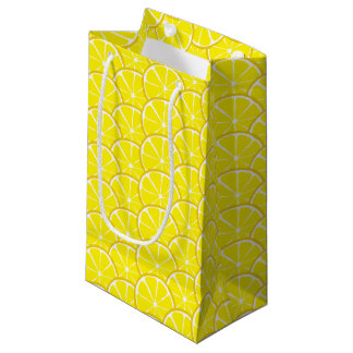 Summer Citrus Lemon Slices Gift Bag - SM/MED/WINE