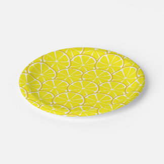 Summer Citrus Lemon Slices Paper Plates