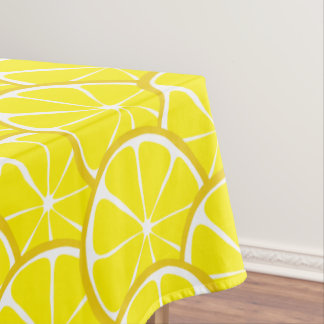 Summer Citrus Lemon Tablecloth