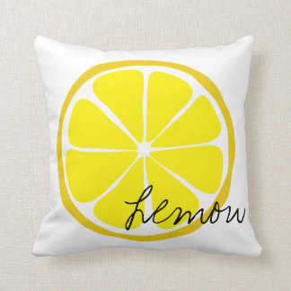 Summer Citrus Lemon Throw Pillow