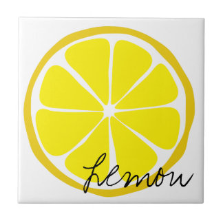 Summer Citrus Lemon Tile