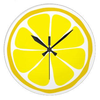 Summer Citrus Lemon Wall Clock