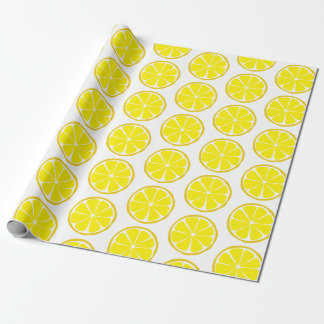 Summer Citrus Lemon Wrapping Paper