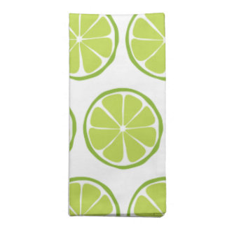 Summer Citrus Lime Cloth Napkins (Set of 4)