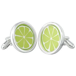 Summer Citrus Lime Cufflinks