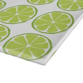Summer Citrus Lime Glass Cutting Board