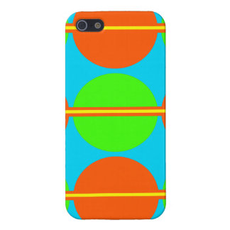 Summer Citrus Lime Green Orange Yellow Teal Circle iPhone 5 Cover