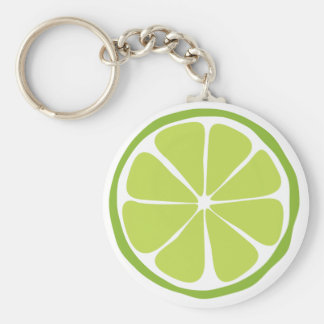 Summer Citrus Lime Keychain