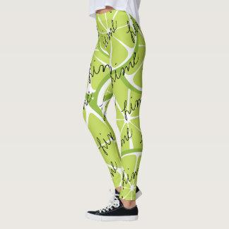 Summer Citrus Lime Leggings - Bold Print Plus