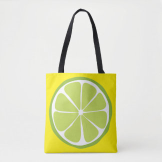 Summer Citrus Lime on Lemon Tote