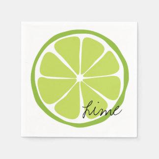 Summer Citrus Lime Paper Napkin