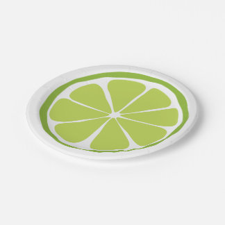 Summer Citrus Lime Paper Plates