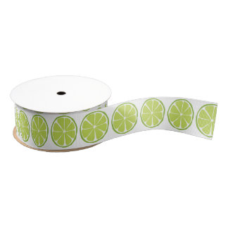 Summer Citrus Lime Ribbon Grosgrain Ribbon