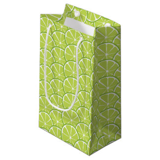 Summer Citrus Lime Slices Gift Bag - SM/MED/WINE