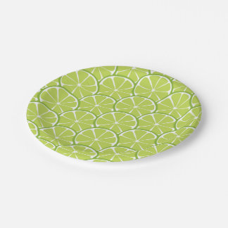 Summer Citrus Lime Slices Paper Plates