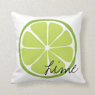 Summer Citrus Lime Throw Pillow