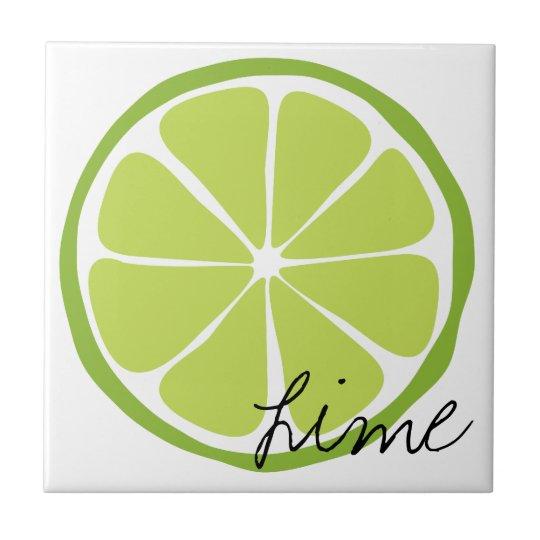 Summer Citrus Lime Tile