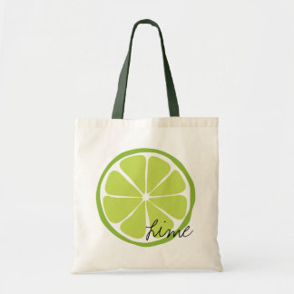 Summer Citrus Lime Tote Budget Tote Bag