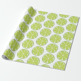 Summer Citrus Lime Wrapping Paper