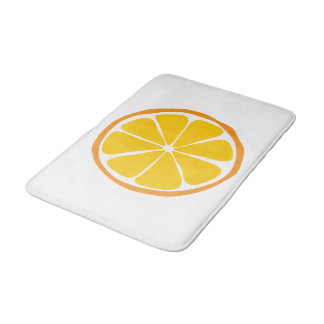 Summer Citrus Orange Bathmat Bath Mats