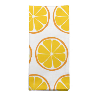 Summer Citrus Orange Cloth Napkins (Set of 4)