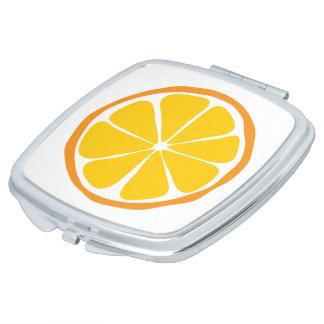 Summer Citrus Orange  Compact Mirror