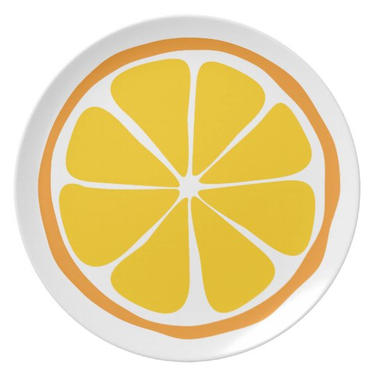 Summer Citrus Orange Dinner Plate