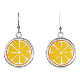 Summer Citrus Orange Earrings