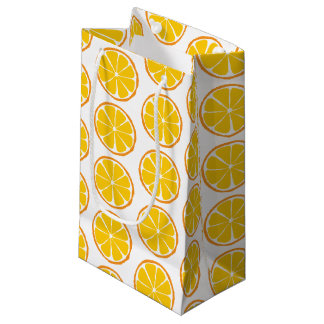 Summer Citrus Orange Gift Bag - SM/MED/WINE