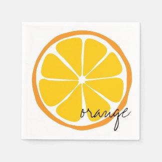 Summer Citrus Orange Paper Napkin