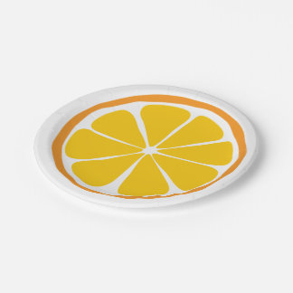 Summer Citrus Orange Paper Plates
