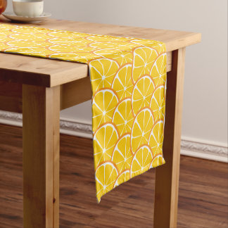 Summer Citrus Orange Table Runner