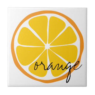Summer Citrus Orange  Tile