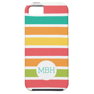 Summer Citrus Stripes Fun Personalized iPhone 5 Covers