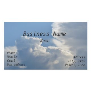 Summer Clouds Double-Sided Standard Business Cards (Pack Of 100)