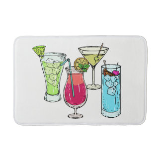 Summer Cocktails bath mats