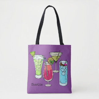 Summer Cocktails custom name bags