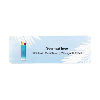 Summer Cocktails Return Address Label