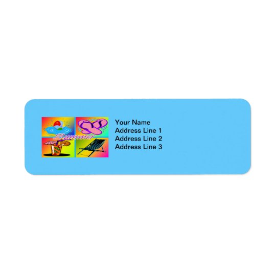 Summer Collage Return Address Label