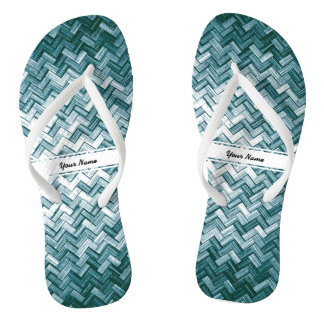 Summer Collection Customized Bamboo Weave Pattern Flip Flops
