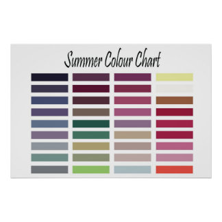 Summer Color Chart Poster