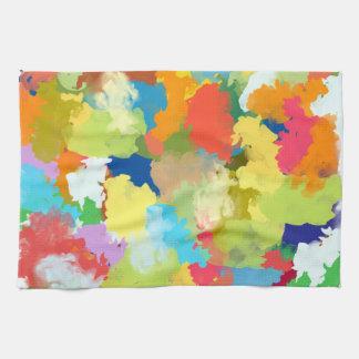 Summer Color Colorful Splash Design Tea Towel