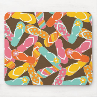 Summer Colorful Fun Beach Whimsical Flip Flops Mouse Pad