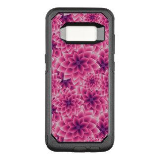 Summer colorful pattern purple dahlia OtterBox commuter samsung galaxy s8 case
