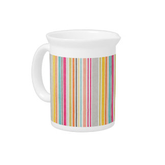Summer colors stripes pattern pitcher