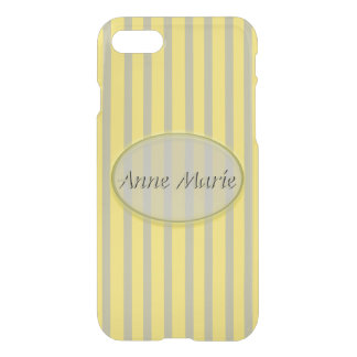 Summer Colors Yellow and Beige Stripes - Classic iPhone 8/7 Case