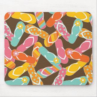Summer Colourful Fun Beach Whimsical Flip Flops Mouse Pad
